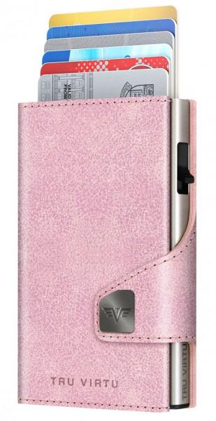 Bourse CLICK & SLIDE Glitter Rosé/Silver