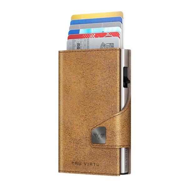 Wallet CLICK & SLIDE Glitter Goldbrown/Silve