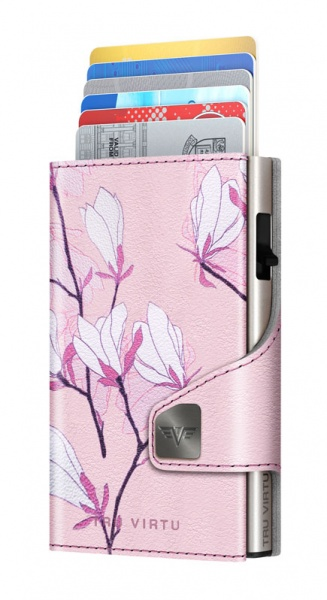 Wallet CLICK & SLIDE Cherry Blossom/Silver