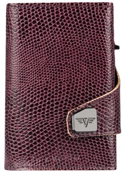 Wallet CLICK & SLIDE Iguana Glossy Blackberry/Brow