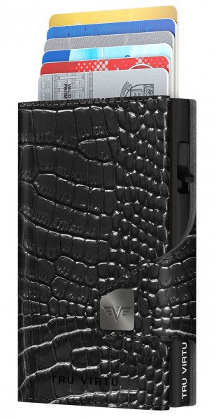Wallet CLICK & SLIDE Croco Black/Black