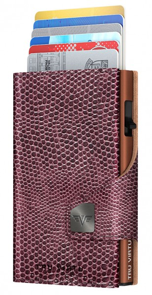 Wallet CLICK & SLIDE Iguana Glossy Blackberry/Brow