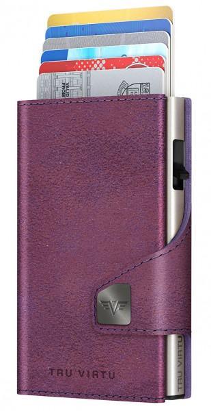 Monedero CLICK & SLIDE Glitter Blackberry/Silver