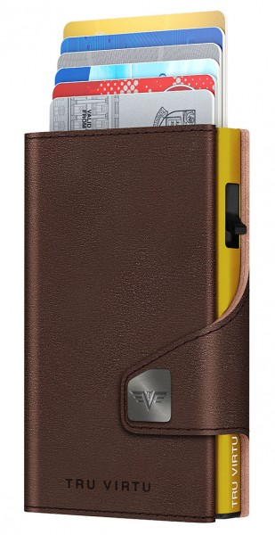 Wallet CLICK & SLIDE Florence Chocolate/Gold
