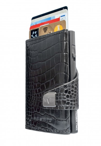 Click & Slide Croco Black/Black
