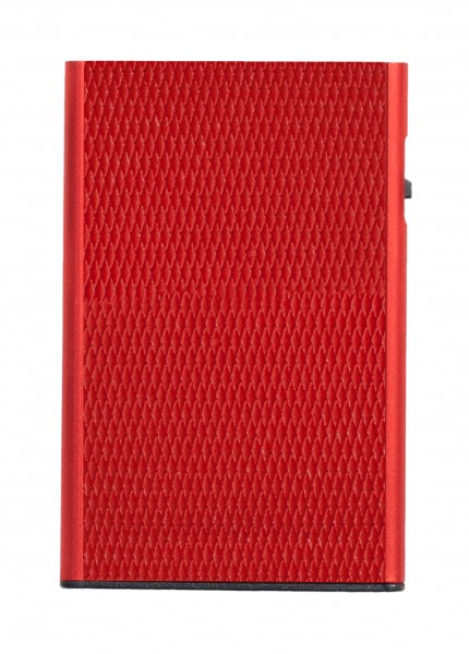 Card Case CLICK & SLIDE Rhombus Coral/Red