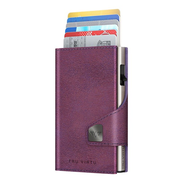 Wallet CLICK & SLIDE Glitter Blackberry/Silver