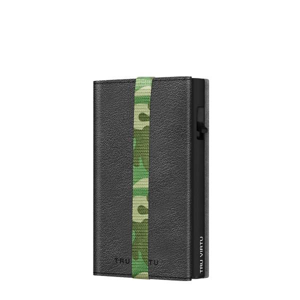 Wallet C&S Strap Edge Nappa Nero Camouflage