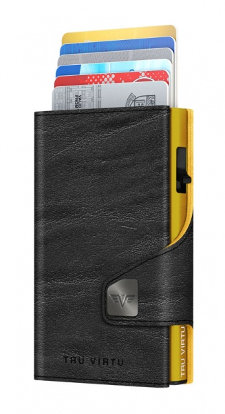 Monedero CLICK & SLIDE Caramba Black-Yellow/Gold