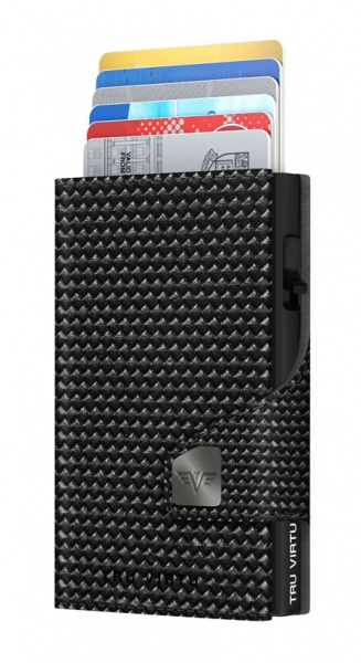 Wallet CLICK & SLIDE Diagonal Carbon Black/Black
