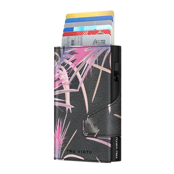 Wallet CLICK & SLIDE Pineapple Flower/Black
