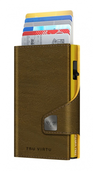 Wallet CLICK & SLIDE Caramba Mossgreen-Yellow/Gold