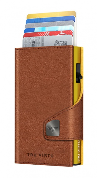 Wallet CLICK & SLIDE Caramba Brown-Yellow/Gold