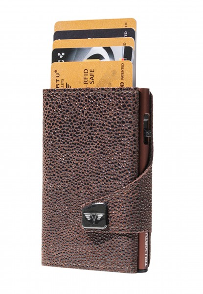 Monedero CLICK & SLIDE Sting Ray Brown/Brown