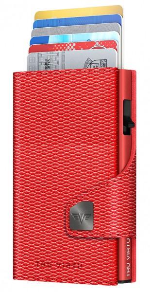 Portemonnaie CLICK & SLIDE Rhombus Coral/Red
