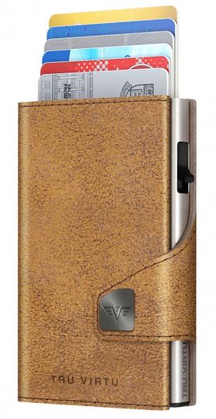 Wallet CLICK & SLIDE Glitter Goldbrown/Silver