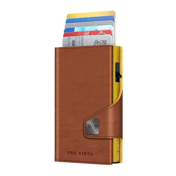 Wallet CLICK & SLIDE Caramba Brown-Yellow/Gold