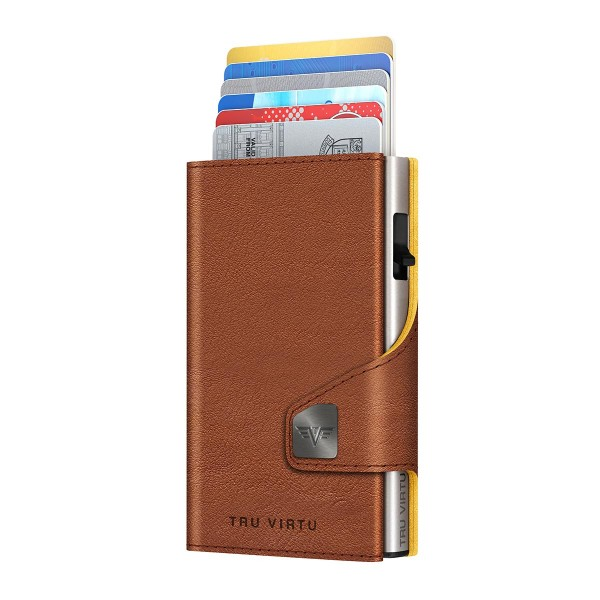 Wallet CLICK & SLIDE Natural Brown-Yell/Silver