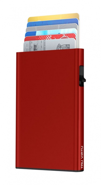 Karten Etui CLICK & SLIDE Red
