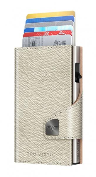 Wallet CLICK & SLIDE Saffiano Whitegold/Silver