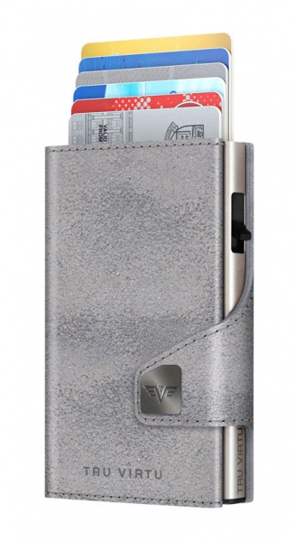 Portemonnaie CLICK & SLIDE Glitter Silvergrey/Silv