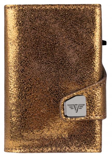 Portemonnaie CLICK & SLIDE Glitter Goldbrown/Silve