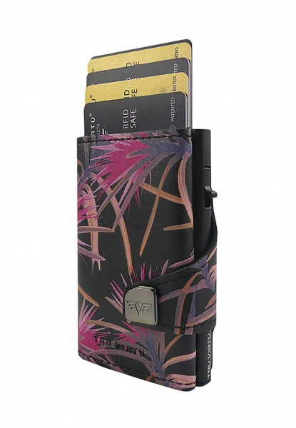 Monedero CLICK & SLIDE Pineapple Flower/Black