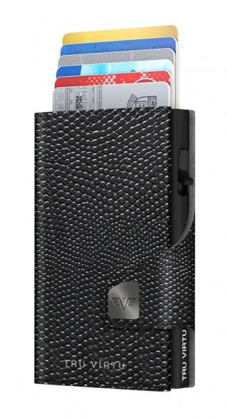 Wallet CLICK & SLIDE Iguana Glossy Black/Black