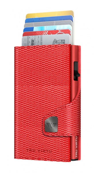 Bourse CLICK & SLIDE Rhombus Coral/Red