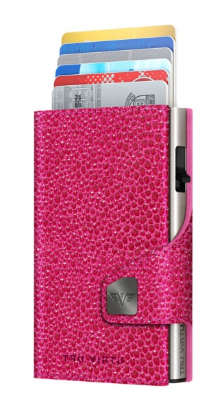 Wallet CLICK & SLIDE Sting Ray Fuchsia/Silver