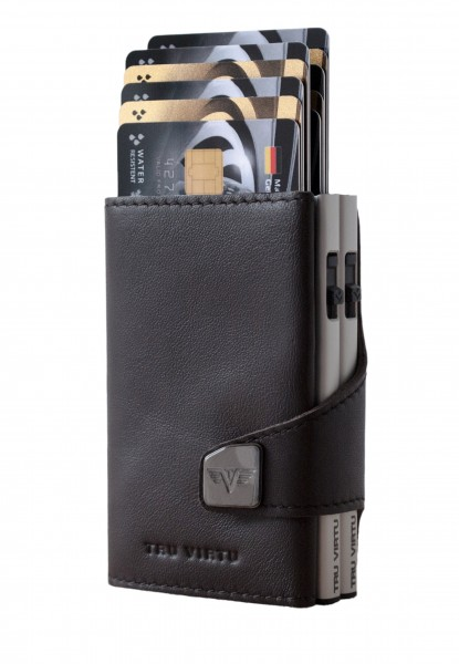 Doublewallet CLICK & SLIDE Nappa Brown/Silver