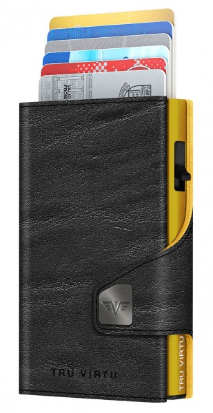 Wallet CLICK & SLIDE Caramba Black-Yellow/Gold