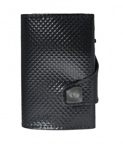 Portemonnaie CLICK & SLIDE Pyramid Glossy Black/Bl