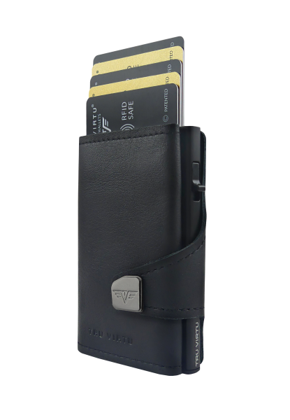 Wallet CLICK & SLIDE Nappa Black Coin Pocket/Black