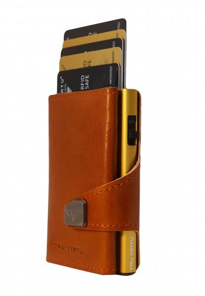 Bourse CLICK & SLIDE Florence Cognac/Gold