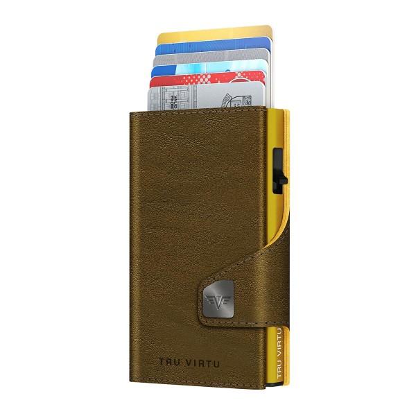 Bourse CLICK & SLIDE Caramba Mossgreen-Yellow/Gold