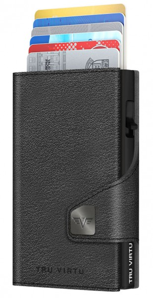 Wallet CLICK&SLIDE Nappa Black Coin Pocket/Black Diagonal