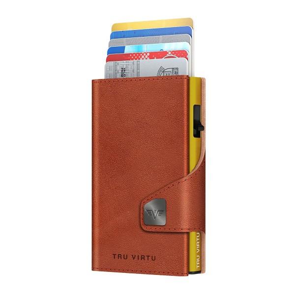 Wallet CLICK & SLIDE Florence Cognac/Gold