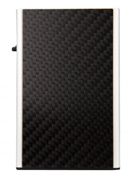 Card Case CLICK & SLIDE Carbon Fibre Black/Sil